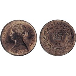 1894. CCCS Mint State-64. Red and Brown. 80% red lustre.