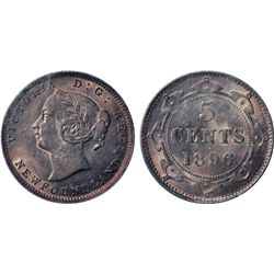 1896. ICCS Mint State-63. A choice coin. Excellent 'eye appeal'. Excessively rare in high grade.