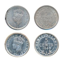 1941-C. CCCS graded Mint State-64. Brilliant and lustrous. 1945-C. ICCS Mint State-64. Brilliant. Ca