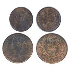 1/2 CENT. 1861. ICCS Mint State-62. Trace Red. ONE CENT. 1861. Small Bud. ICCS Mint State-62. Red an