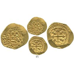 Mexico City, Mexico, cob 4 escudos, 1713J, from the 1715 Fleet.