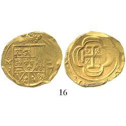 Mexico City, Mexico, cob 4 escudos, (1714)J, from the 1715 Fleet.