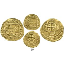 Mexico City, Mexico, cob 2 escudos, 1714J, from the 1715 Fleet.