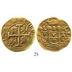 Lima, Peru, cob 8 escudos, 1700H, Charles II.