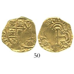 Bogota, Colombia, cob 2 escudos, 1703, from the 1715 Fleet.