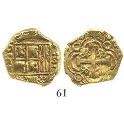Bogota, Colombia, cob 2 escudos, (1)729S.