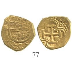 Seville, Spain, cob 2 escudos, Philip II or III, assayer B.