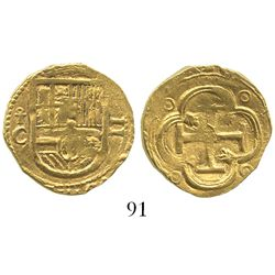 Toledo, Spain, cob 2 escudos, Philip III, assayer C below mintmark oT to left.