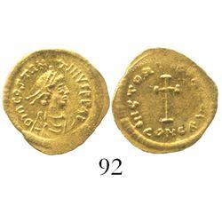 Byzantine Empire, AV tremisis, Tiberius II Constantine, 578-582 AD.