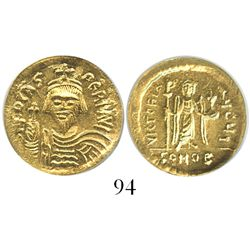Byzantine Empire, AV solidus, Phocas, 602-610 AD, Constantinople mint, encapsulated ICG MS62.