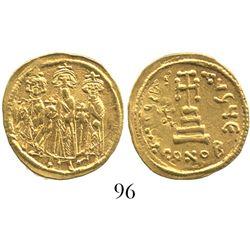 Byzantine Empire, AV solidus, Heraclius, 610-641 AD, Constantinople mint.