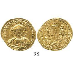 Byzantine Empire, AV histamenon nomisma, Basil II, 976-1035 AD, Constantinople mint.