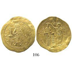Byzantine Empire, AV hyperpyron (scyphate), John II Comnenus. 1118-1143 AD, Thessalonica mint.
