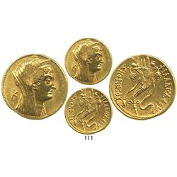 Ancient Egypt, AV octadrachm, Ptolemy V-VIII, 204-116 BC, Alexandria mint.