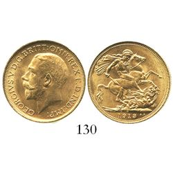 Sydney, Australia, sovereign, George V, 1913.