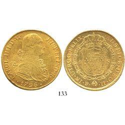 Potosi, Bolivia, bust 8 escudos, Charles IV, 1796PP.