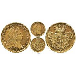 Brazil (Rio mint), 6400 reis, Joao V, 1750-R.