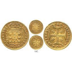 Brazil (Rio mint), 2000 reis, Joao V, 1723-R, rare.