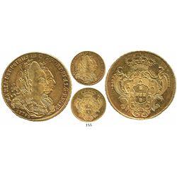 Brazil (Bahia mint), 6400 reis, Maria I and Pedro III, 1779-B.