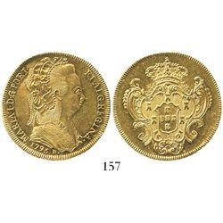 Brazil (Rio mint), 6400 reis, Maria I, 1795-R.