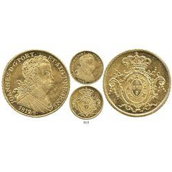 Brazil (Rio mint), 6400 reis, Joao VI, 1812/1, unlisted overdate.