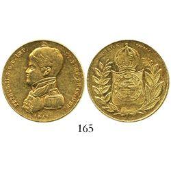 "Brazil, 10000 reis, Pedro II (""admiral"" bust), 1847."