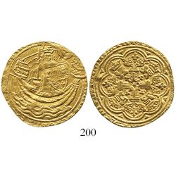 London, England, noble, Edward III, 4th coinage (1351-77), from an early-1400s wreck off Isle of Wig