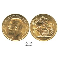 Great Britain (London, England), sovereign, George V, 1915.