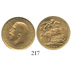 Great Britain (London, England), sovereign, George V, 1925.