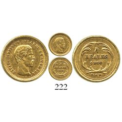 Guatemala, 4 reales, 1860R, Carrera.