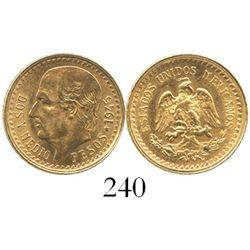 Mexico, 2-1/2 pesos, 1945.