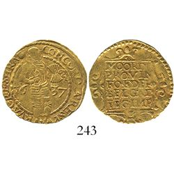 Utrecht, United Netherlands, ducat, 1637.