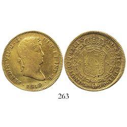 Lima, Peru, bust 4 escudos, Ferdinand VII, 1819JP.