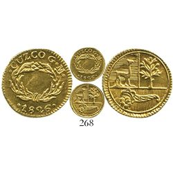 Cuzco, Peru, 1/2 escudo, 1826GM