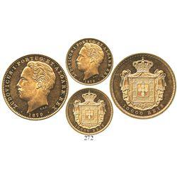 Portugal, 10000 reis, Luiz I, 1879.