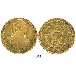 Madrid, Spain, bust 4 escudos, Charles IV, 1796MF.