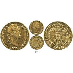 Madrid, Spain, bust 2 escudos, Ferdinand VII, 1825AJ.
