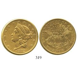 USA (Carson City mint), $20 (double eagle) coronet Liberty, 1872-CC.