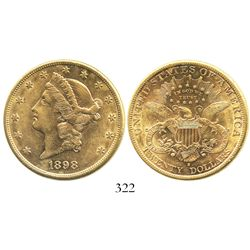 USA (San Francisco mint), $20 (double eagle) coronet Liberty, 1898-S.