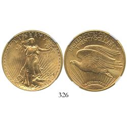 USA (San Francisco, mint), $20 (double eagle) St. Gaudens, 1914-S, encapsulated NGC MS 62.