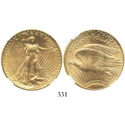 USA (Philadelphia mint), $20 (double eagle) St. Gaudens, 1924, encapsulated NGC MS 63.