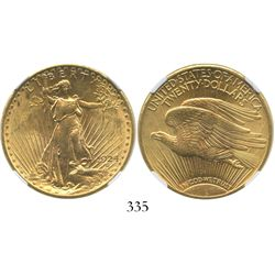 USA (Philadelphia mint), $20 (double eagle) St. Gaudens, 1924, encapsulated NGC MS 62.