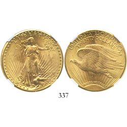 USA (Philadelphia mint), $20 (double eagle) St. Gaudens, 1927, encapsulated NGC MS 62.