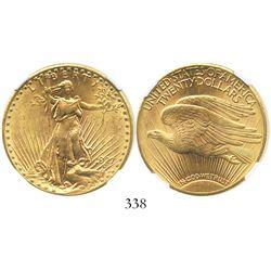 USA (Philadelphia mint), $20 (double eagle) St. Gaudens, 1927, encapsulated NGC MS 61.