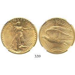 USA (Philadelphia mint), $20 (double eagle) St. Gaudens, 1927, encapsulated NGC MS 61.