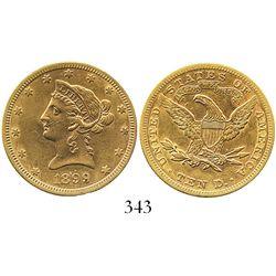 USA (Philadelphia mint), $10 (eagle) coronet Liberty, 1899.