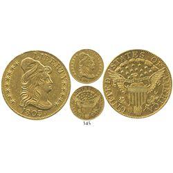 USA (Philadelphia mint), $5 (half eagle) Liberty cap, 1803/2.
