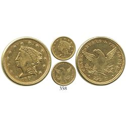 USA (Clark Gruber & Co., Denver / Pike's Peak), $2-1/2 (quarter eagle) coronet Liberty, 1861.