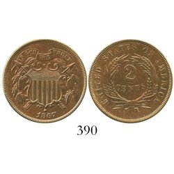 USA (Philadelphia mint), two cents, 1867.