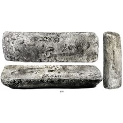 Medium-sized silver ingot #676B, 38 lb 10.72 oz troy, Class Factor 1.0, fineness 2380/2400, dated 16